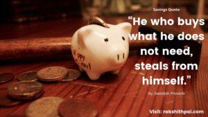 Savings quote