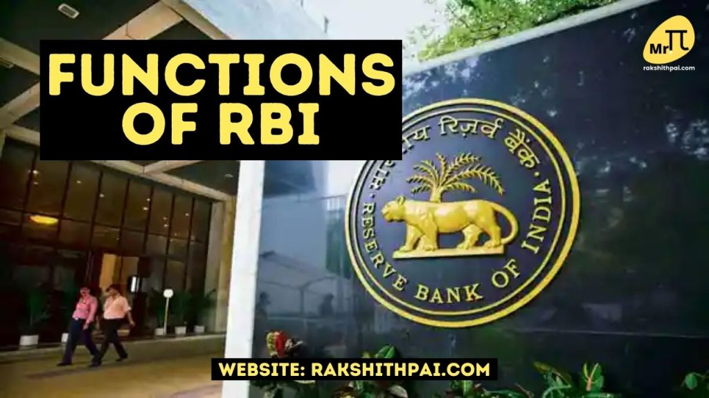 Roles and functions of RBI